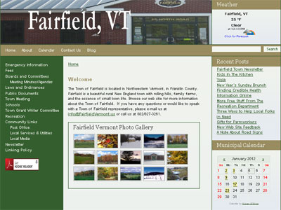 Fairfield Municipal Website