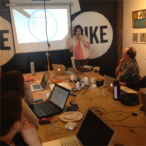 Caitlin Lovegrove Presents at Code for BTV Hackathon