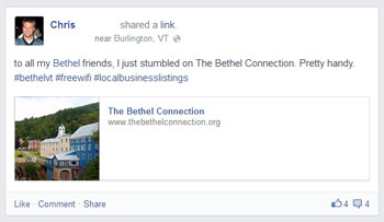 Chris posts on Facebook about Bethel