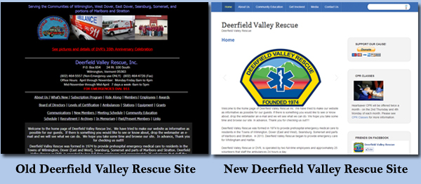 Deerfield Valley Rescue before and after sites