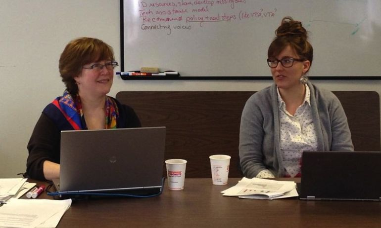 Tess Gauthier and Christine Friese discuss digital literacy