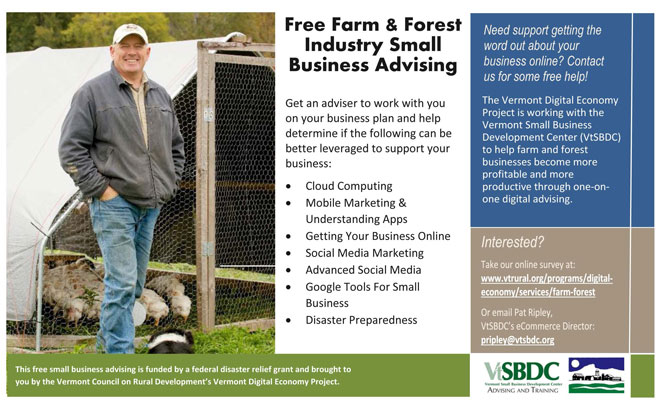 Free Farm and Forest Business Advising