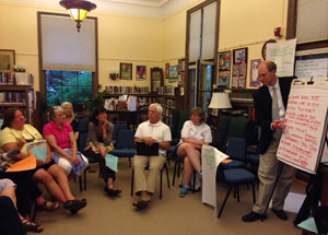 Ted Brady at the Vergennes River Walk discussion