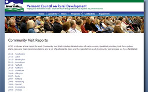 Old Community Visit Reports Page