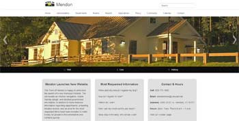 Town of Mendon's New Website