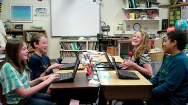 Dover kids with netbooks